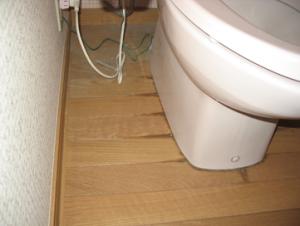 トイレ 便器からの水漏れ