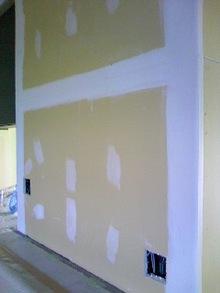 壁の継ぎ目のパテ